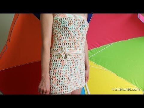 Уроки вязания платья крючком - видео
