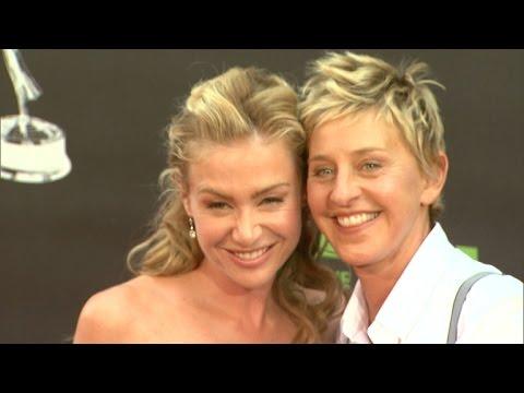 Ellen DeGeneres Secretly Records Portia De Rossi Doing a Jane Fonda Workout