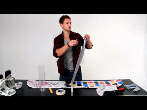AC Custom: How To Apply Your Snowboard Wrap