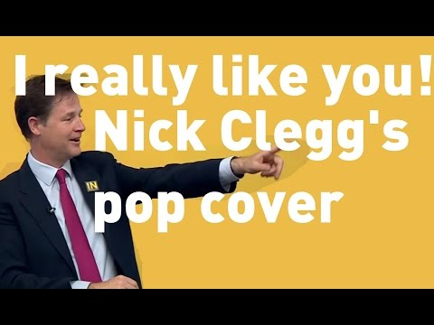 SPOOF: Nick Clegg's does Carly Rae Jepsen 'I really like you!'