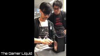 Hideo Kojima playing Galaga