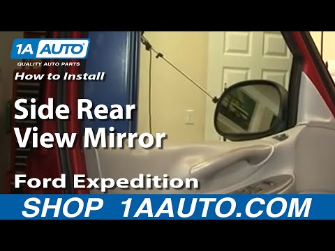 How To Install Replace Side Rear View Mirror Ford F-150 Expedition 97-03 1AAuto.com