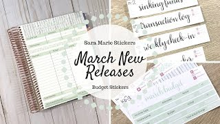 March NEW Releases   Budget Stickers   Sara Marie Stickers  
