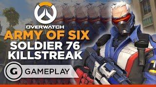 Army of Six Soldier 76 Killstreak - Overwatch Gameplay