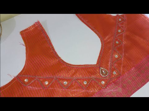 How to  Attached lase in Simple Blouse Design || Women's Fashion Blouse