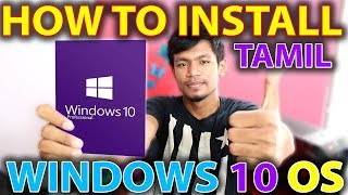 How to install Windows 10 OS in Tamil | Tech Vibrate
