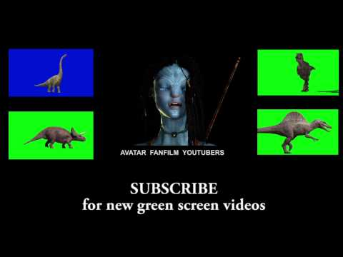 JURASSIC PARK III Velociraptor Raptor (animation green screen dinosaur 3D Studio Max chroma key)