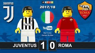 Juventus - Roma 1-0 • Serie A (23/12/2017) Goal Highlights Film Juve AS Roma Lego Calcio 2017/18