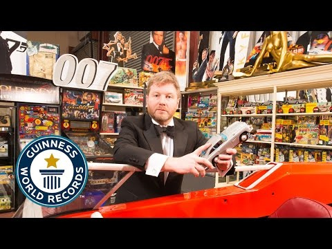 Largest collection of James Bond memorabilia  - Guinness World Records 2015