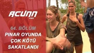 Pınar Oyun Sırasında Çok Kötü Sakatlandı | Bölüm 64 | Survivor 2017