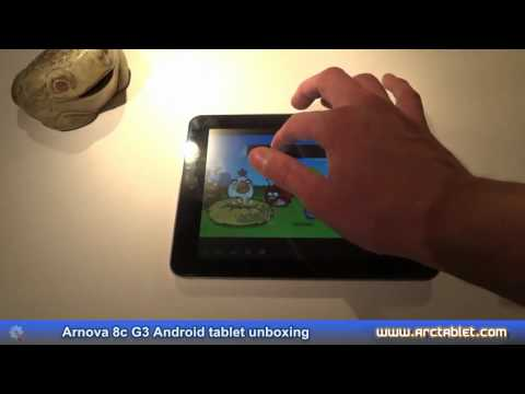 Arnova 8c G3 review - tablet unboxing