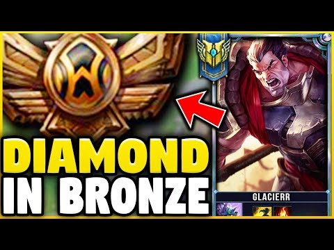 I TOOK MY DARIUS INTO BRONZE 5! DIAMOND DARIUS MAIN VS BRONZE ELO! - League of Legends