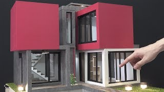 How to Make Awesome Mini House #7 - exterior finish and sliding window