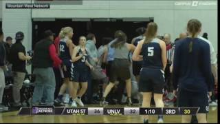 Brawl erupts between UNLV, Utah State women