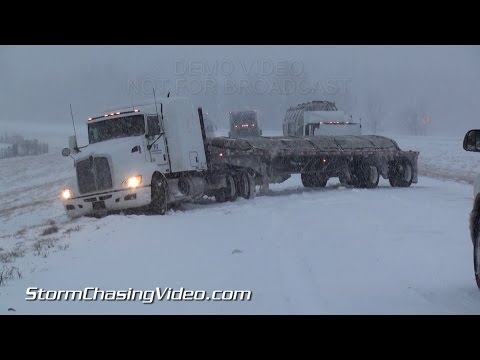 3/4/2015 IL and KY Snow Storm Causes Crashes Everywhere B-Roll