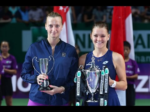Agnieszka Radwanska and Petra Kvitova Final | 2015 WTA Finals Highlights