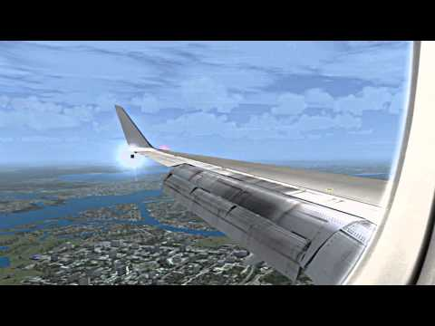 ✈FSX UTAir B757-200 morning approach in to Riga Intl (Latvia)✈ HD.