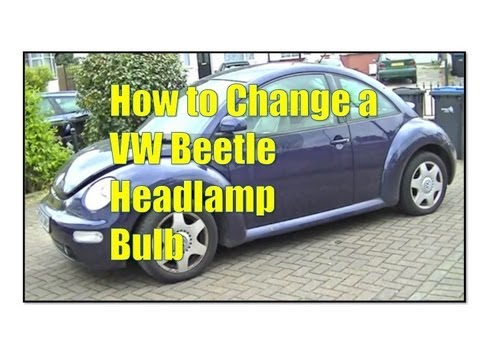 VW Beetle Headlight Bulb Change Simple Easy Steps
