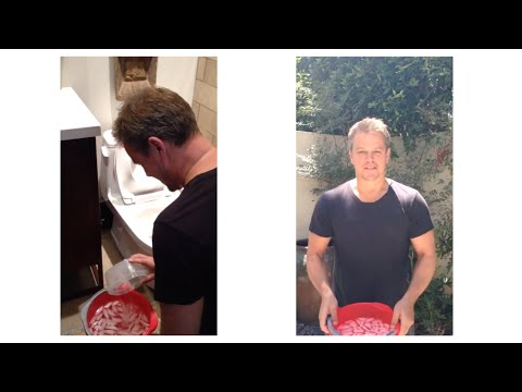 Matt Damon Takes the ALSA Ice Bucket Challenge!