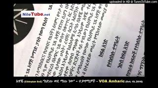 """አዋጁ """"ከድጡ ወደ ማጡ ነው"""" - ተቃዋሚዎች (Ethiopian SoE jeopardize) - VOA Amharic (October 19, 2016)"""