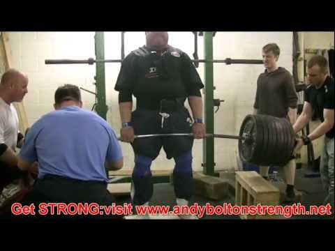 Andy Bolton 520kg,1144lbs Partial Deadlift Training From Just Above Knee Image 1