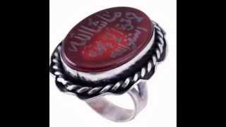 Handmade Islamic Jewelry Pendants with natural gemstones and engravings islamic-rings.com