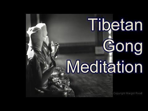 Tibetan Gong Meditation with Beautiful Tibetan Buddhist Photography Nepal 1 hour