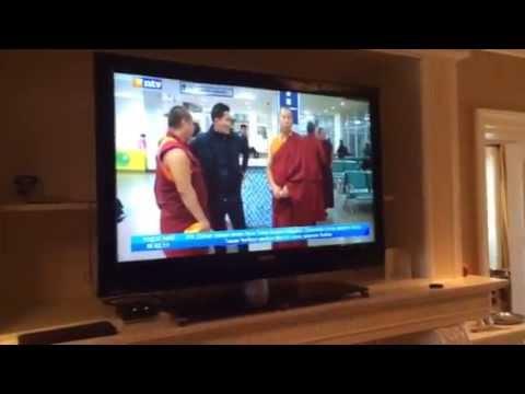 Trijang Chocktrul Rinpoche on Mongolian national TV (Mongolia 2014)