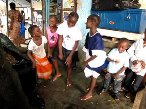 Ivory Coast ,Children dancing in Adjame',  3rd December 2010