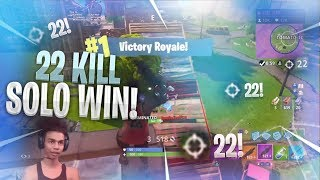 INCREDIBLE 22 KILL SOLO WIN on Fortnite Battle Royale • How To Takeover Tilted Towers EASILY!