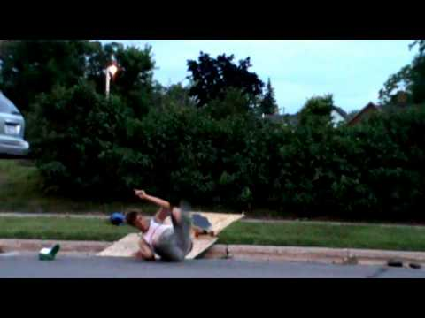 Jon eats it Longboarding