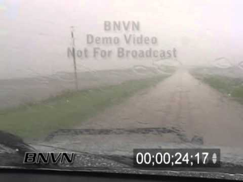 5/18/2005 Hail storm stock video.