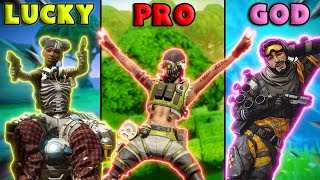 LUCKY vs PRO vs GOD - NEW Apex Legends Funny Epic Moments #28