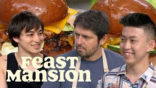 Joji and Rich Brian Make International Burgers with Chef Ludo | Feast Mansion