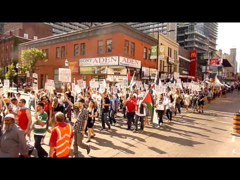 Toronto Protest for Gaza - August 10, 2014