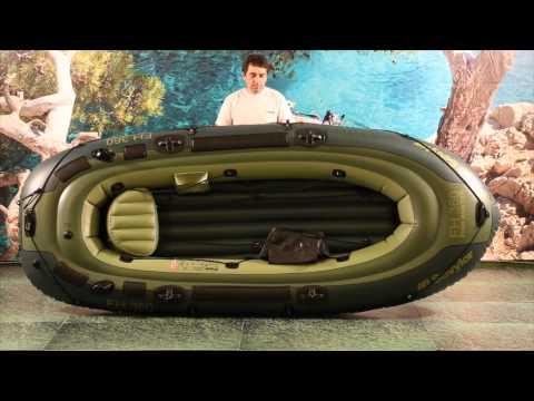 Sevylor fish hunter hf 280 raft with trolling motor and for Fish hunter raft