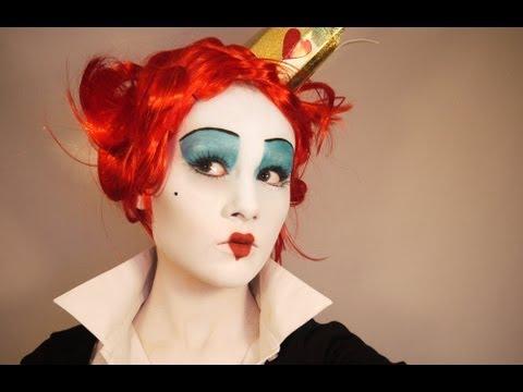 Red Queen Makeup Tutorial Queen Of Hearts Makeup Tim Burton