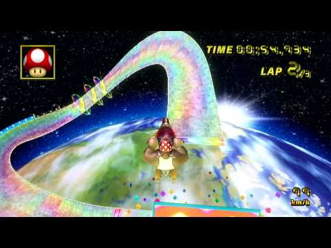 [MKW] Rainbow Road - 02:27.117 - マンダー