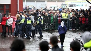 One dead, four injured after sword attack at school in Sweden