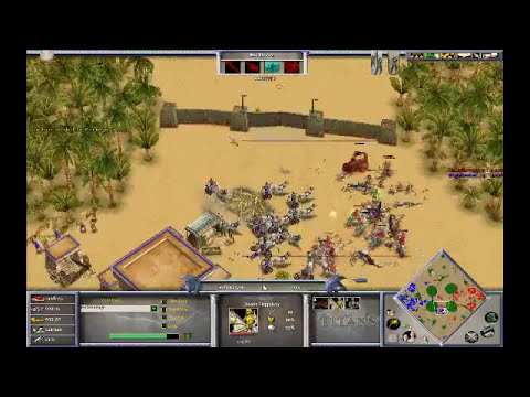 HellsRavage (Zeus) vs Highlander_ (Isis) on Oasis - Age of Mythology: The Titans