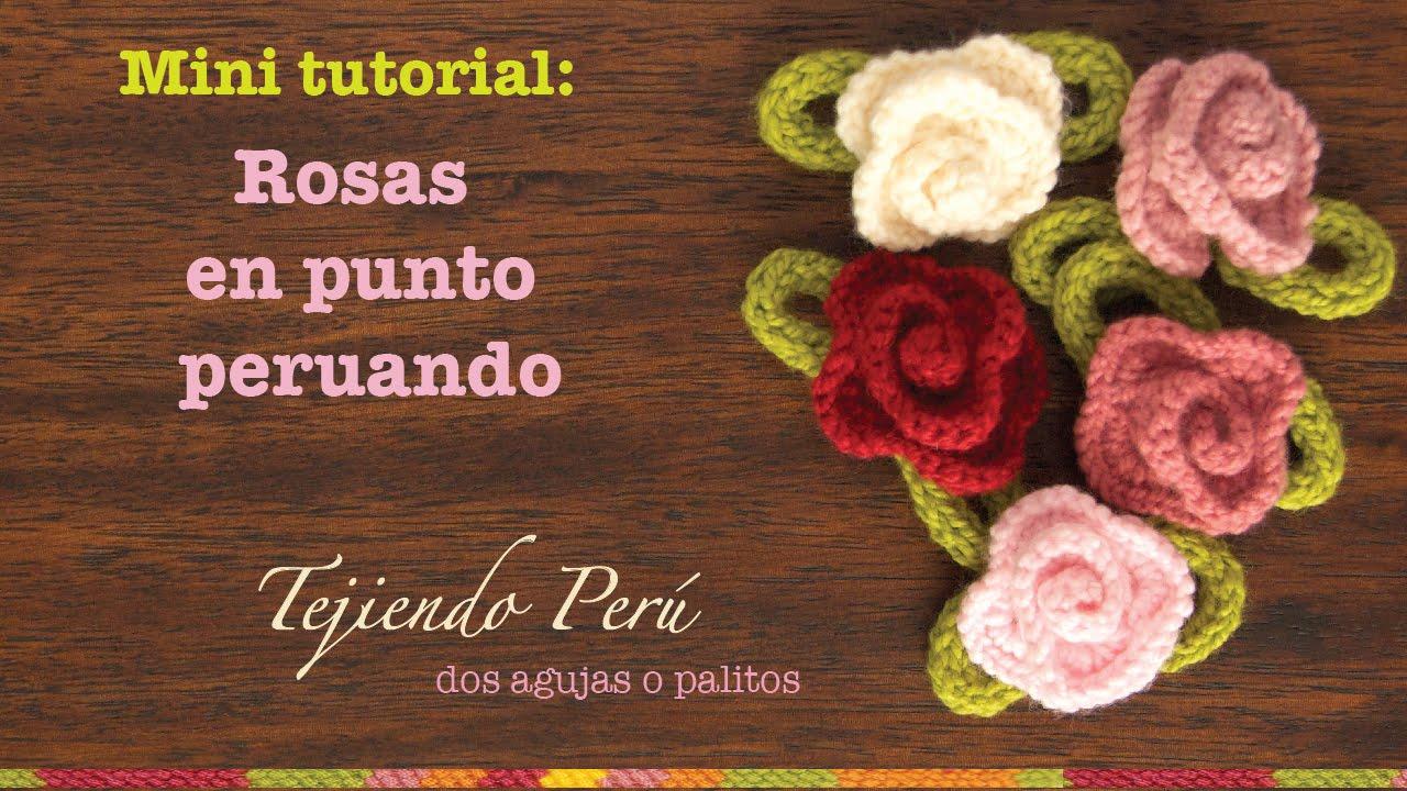 Tutorial Amigurumi Esperanza Rosas : Mini tutorial # 1: rosas tejidas en punto peruano en dos ...