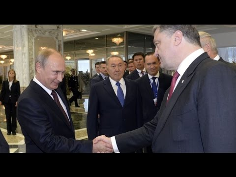 Poroshenko and US press Putin on Ukraine violence
