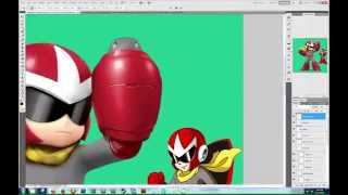 Smash Photoshop - Proto Man