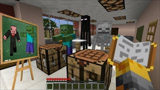 Minecraft MONSTER SCHOOL WITH BABY MOBS MOD / HELP BOYS AND GIRLS WITH THEIR TASKS!! Minecraft