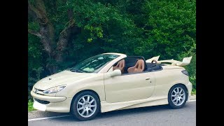 Peugeot 206cc decapotabila de inchiriat pt Evenimente / For rent Convertible car for events ...