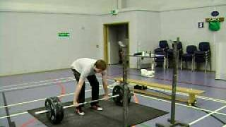 Youth Weightlifter Power Clean and Jerk 110 Kg @ 69 kg