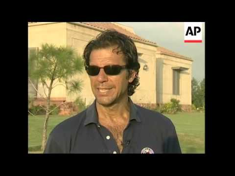 Interview with cricketer and politician Imran Khan, newspapers