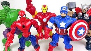 Marvel Mashers! Hulk, Spider Man, Captain America, Iron Man, Thor's body have changed!! - DuDuPopTOY