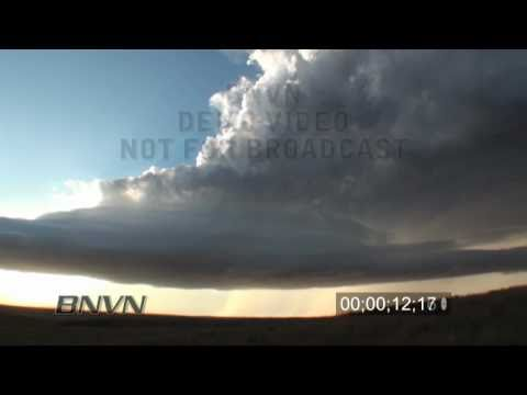 9/9/2010 Time Lapse Super Cell Thunderstorm Growing Footage