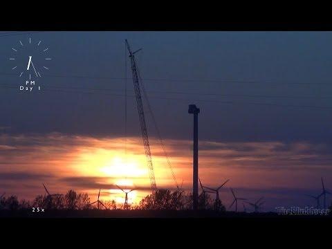 Aufbau Windkraftanlage komplett - Installation windturbine turnkey [HD]